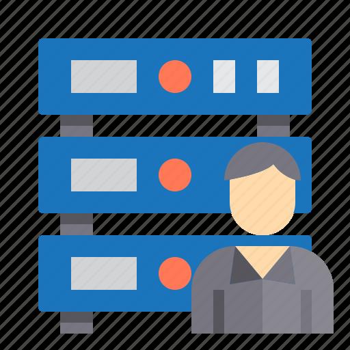 administrator, communication, computer, internet, network, server icon