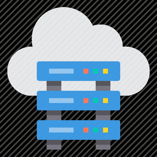 cloud, communication, computer, internet, network, server icon