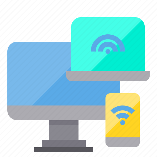 communication, computer, connecting, internet, network, server, wifi icon