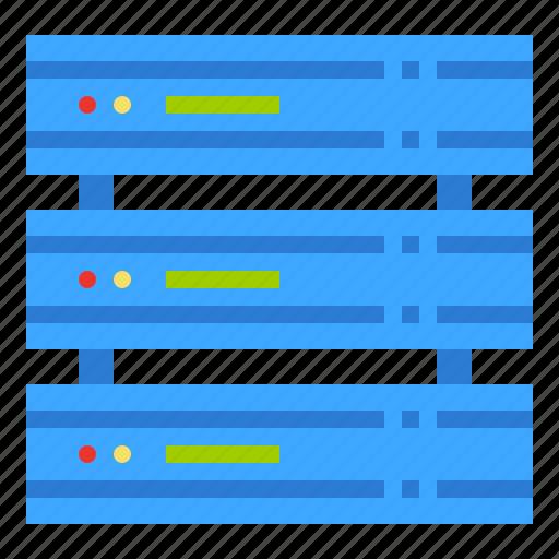 hosting, mainframe, rack, server, storage icon