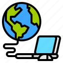 computer, connect, internet, world icon