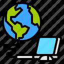 computer, connect, internet, world icon