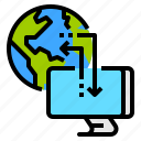 connect, global, hosting, server, web icon