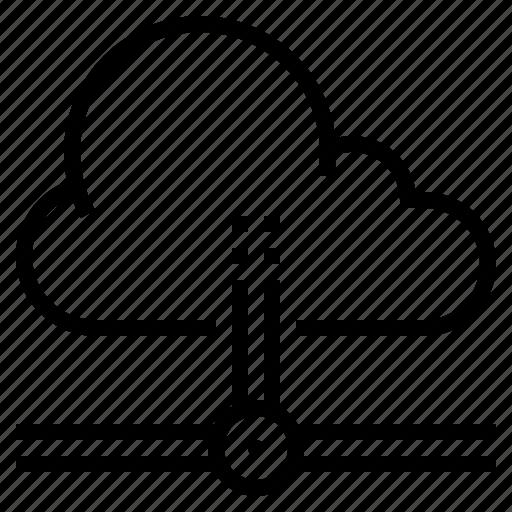 cloud, computer, computing, device icon
