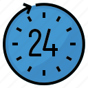 call, center, clock, hours, service, support icon