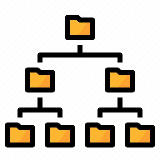 data, folder, hierarchy, management, structure icon