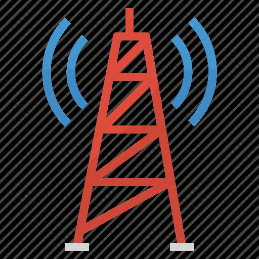 antenna, radio, signal, tower, wifi, wireless icon