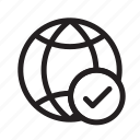 apply, check, computer networks, globe, network globe, web, web apply icon