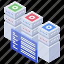 data center, data hosting, database, home server, server room icon