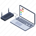 internet hub, local connection, local network, local server, wireless network icon