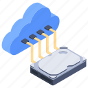cloud computing, cloud data hosting, cloud services, cloud storage, cloud technology icon