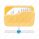 data, document, files, folder, paper, storage icon