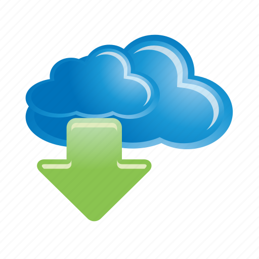 cloud, computing, data, download, internet icon