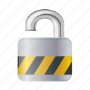 lock, open, password, protection, safe, unlock icon