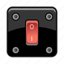 electricity, light, lightning, off, switch icon