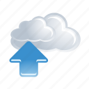 upload, arrow, cloud, computing, storage, up