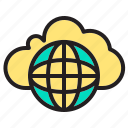 cloud, comuter, data, network, online, ui icon