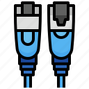 computer, lan, rj45, construction, tools, cable, electronics icon