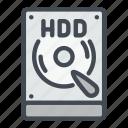 computer, disc, drive, hard, hardware, hdd, storage icon