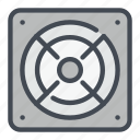 computer, electric, hardware, power, supply, voltage icon