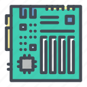 computer, hardware, mainboard, motherboard, pc icon