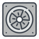computer, cooler, fan, heat, sink, system icon