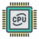 chip, chipset, computer, cpu, microchip, processor icon