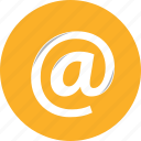 at, email, mail