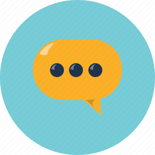 bubble, chating, comments, conversation, message, sms, text icon