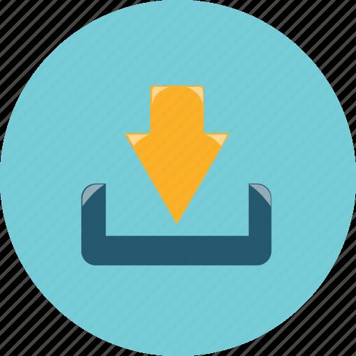 arrow, arrows, down, download icon