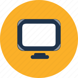 computer, desktop, display, lcd, monitor, screen, web icon
