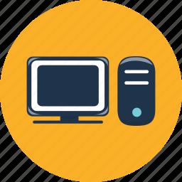computer, device, display, hardware, monitor, pc, web icon