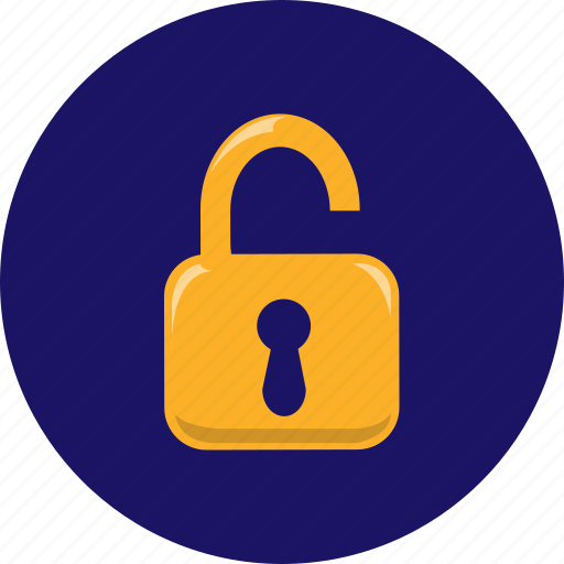 lock, padlock, privacy, safety, secure, security, unlock icon