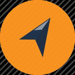arrow, direction, location, move, navigation, send, sent icon