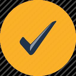 accept, approve, checklist, checkmark, mark, success, tick icon