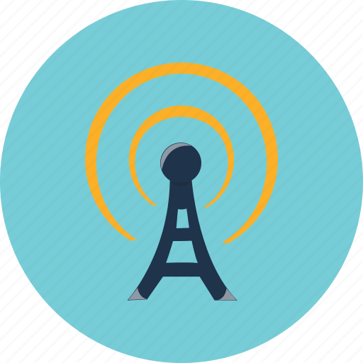 antenna, communication, mobile, network, phone, tower, wireless icon