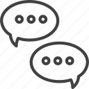 bubbles, chat, forum, speech, talk icon