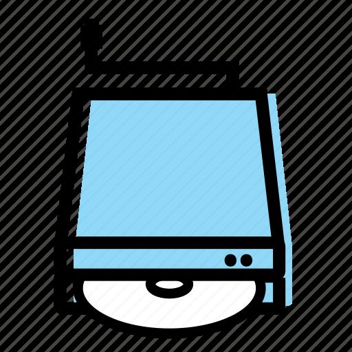 computer, drive, dvd, eksternal, stuff, usb icon