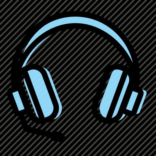callcenter, computer, gaming, headphone, microphone, stuff icon