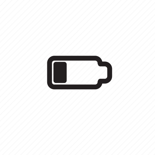 bar, battery, battery1bar, computer, low, outline icon