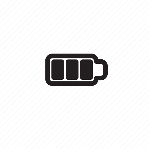 bar, battery, computer, full, outline icon