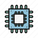 chips, computer, device, electronics, hardware, processor icon