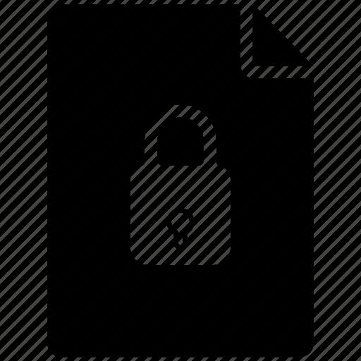 file, list, lock, menu icon icon