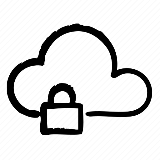 cloud, computer, hardware, lock, programming, service, webdesign icon