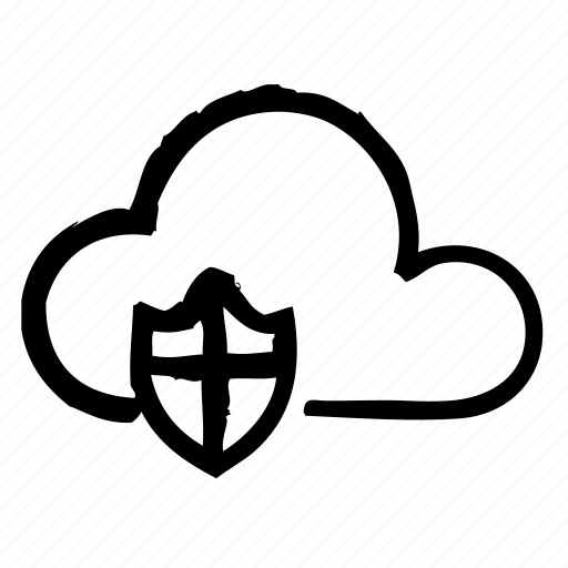 cloud, computer, hardware, programming, protect, service icon