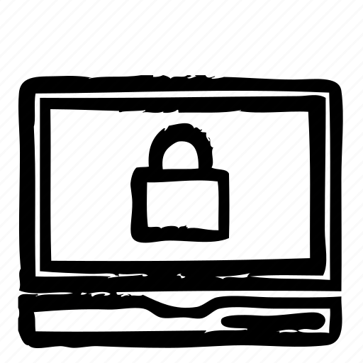 computer, hardware, lock, notebook, programming, service, webdesign icon