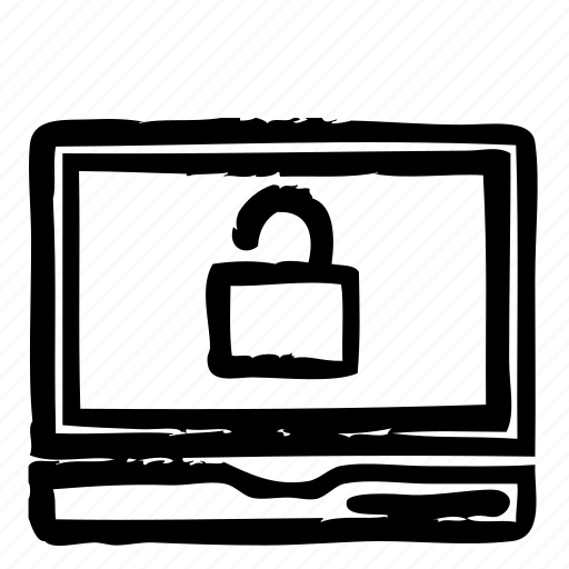 computer, hardware, notebook, programming, service, unlock, webdesign icon