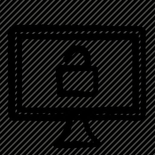computer, hardware, programming, screen, service, unlocked, webdesign icon