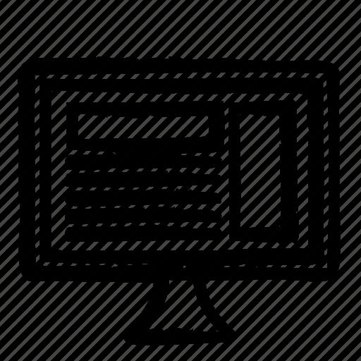 computer, hardware, programming, service, webdesign icon