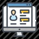 computer, pc, profile, settings, user, web, website